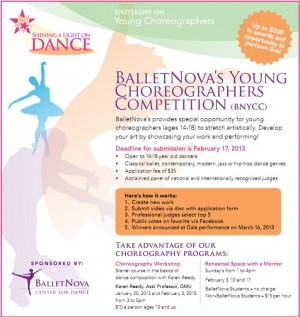 BalletNova's Young Choreographers Competition
